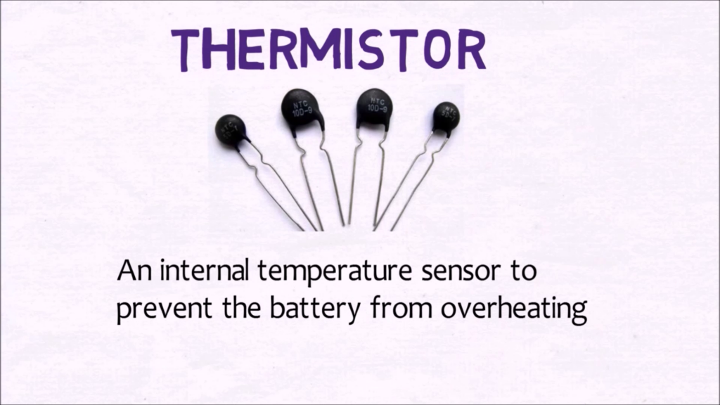 What is a Thermistor in a battery?