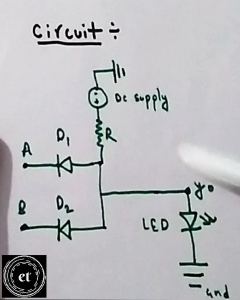 Circuit Diagram of AND Gate using Diodes
