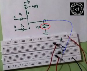 Connect LED to AND Gate on breadboard