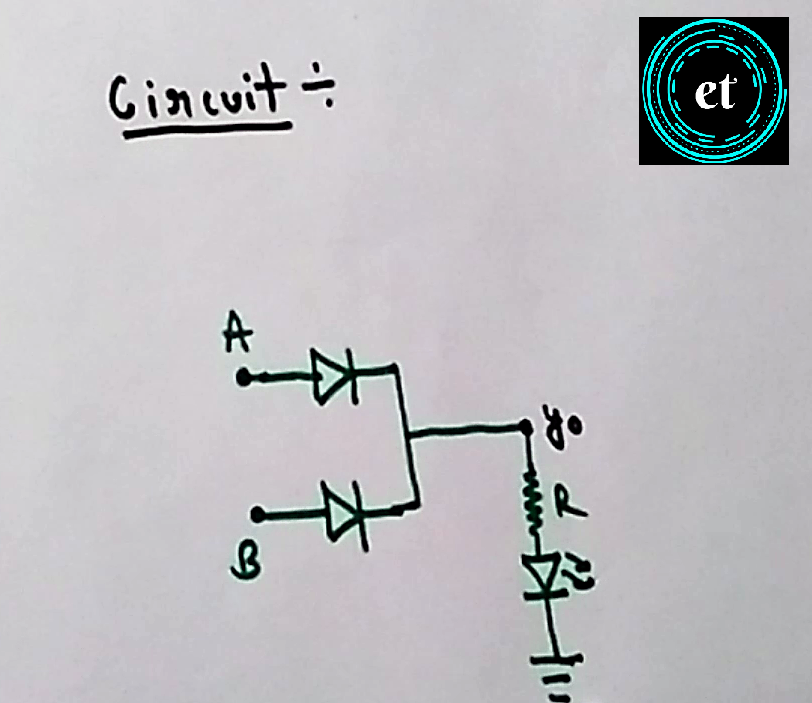 Circuit Diagram of OR Gate using Diodes