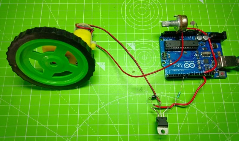 Automated speed control of Motor using LDR with Arduino