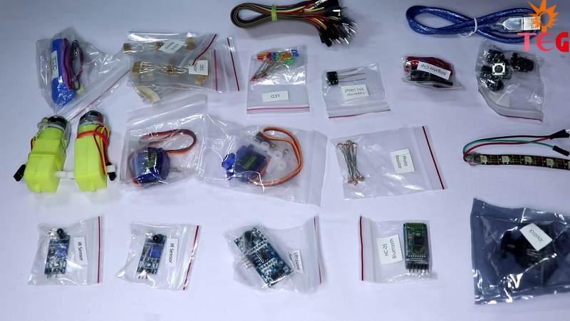 Electronic Components In Evive Starter Kit