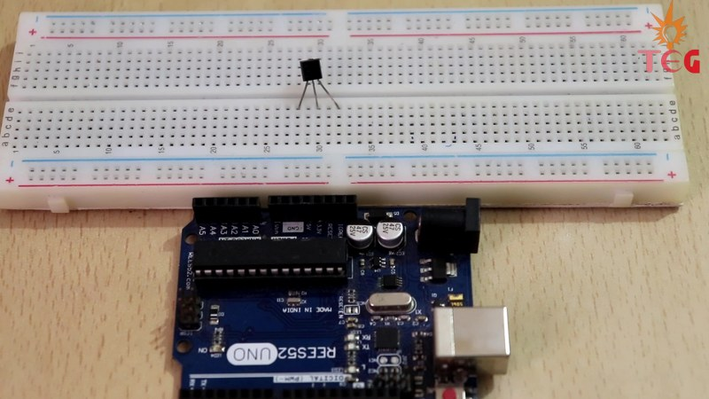 2) LM35 connections to Arduino