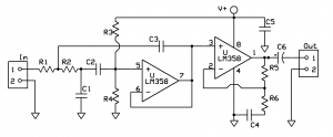 3000Hz Active Low-pass Filter for Radio Communications