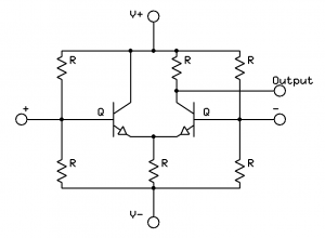 The long-tailed pair – the base for the operational amplifier
