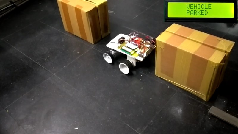 Arduino based Self parking Car