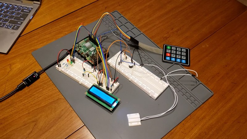 Home security system using Raspberry pi