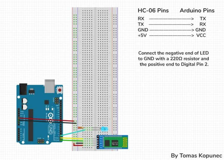 HC-06 Arduino Connections