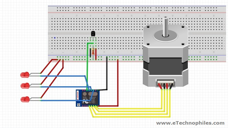 Circuit Diagram of ESP8266 based cooling fan project