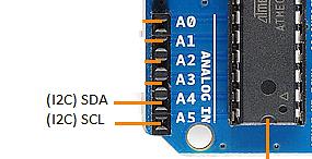 I2C Pins on Arduino UNO