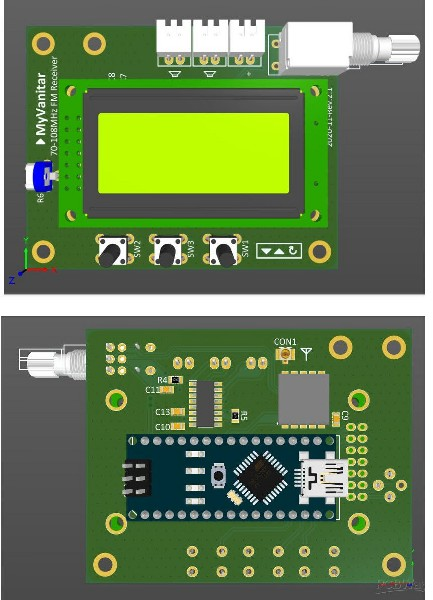 PCB layout for FM receiver