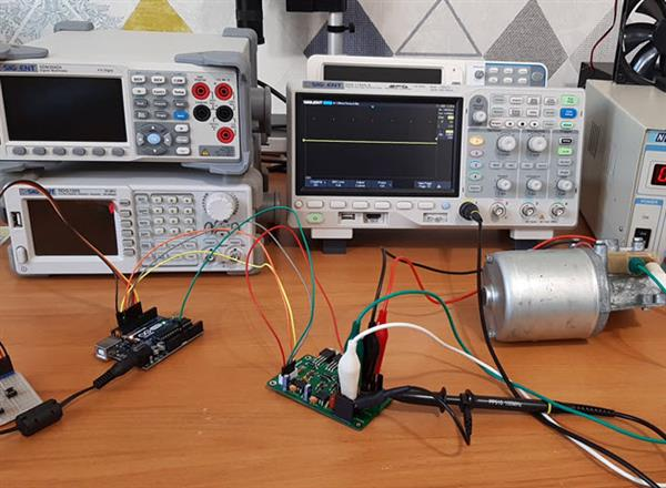 Circuit connection of DC Motor speed controller