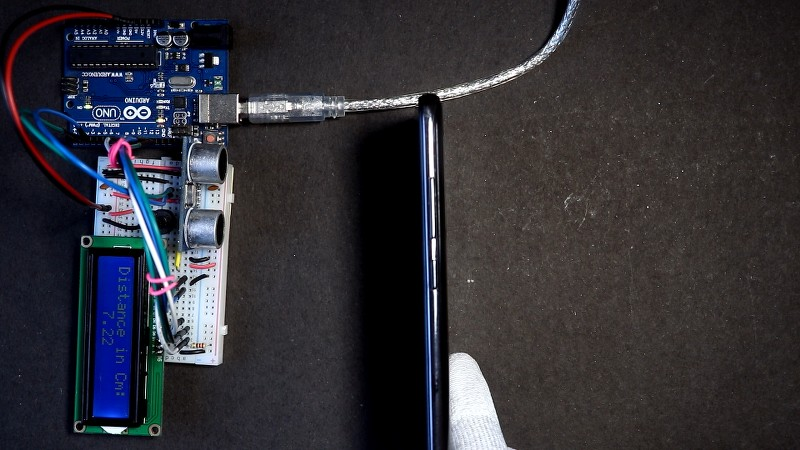 Distance Measurement using LCD