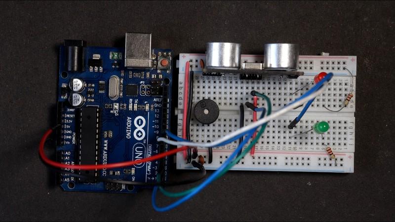Intruder Alarm Project using Ultrasonic Sensor