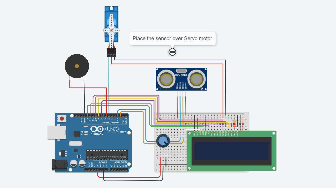 ecurity System using Ultrasonic sensor