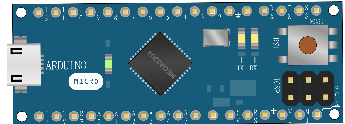 Front View of Arduino Micro