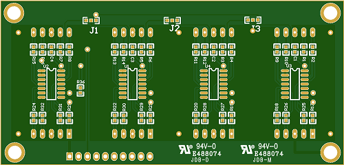A PCB board with UL identification number (E488074)