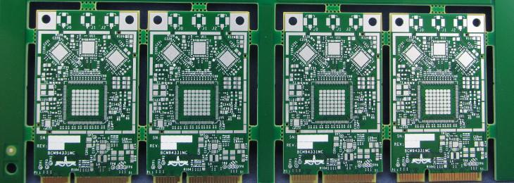 A PCB board with a surface finish of Immersion Silver