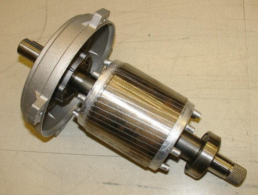 Types of AC motors: Squirrel cage rotor