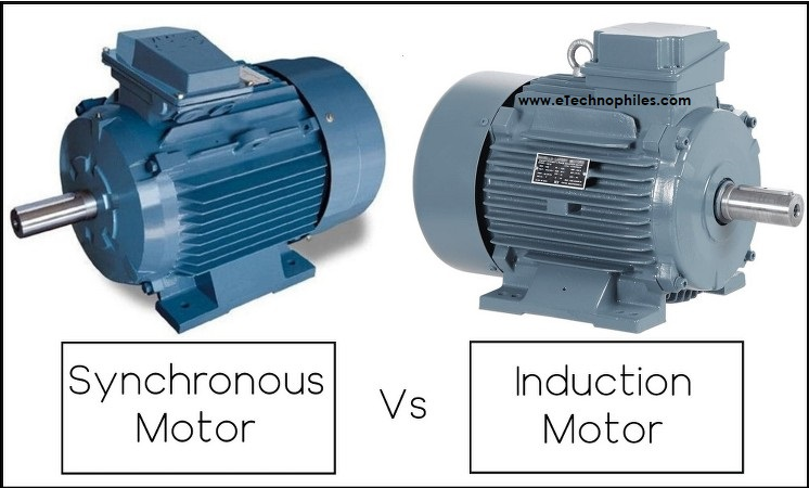 difference between induction motor and synchronous motor