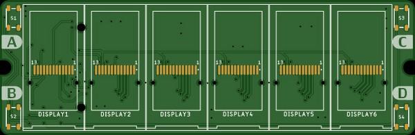 PCB design of the clock