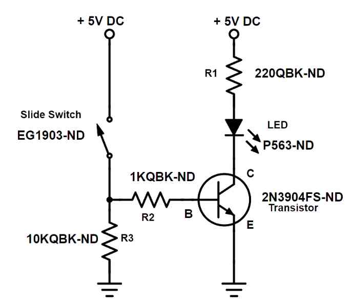 2N3904 Transistor as a switch