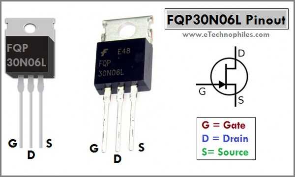 FQP30N06L Mosfet Pinout and Arduino Project
