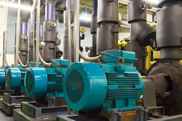 Three-phase induction motors installed in an industry