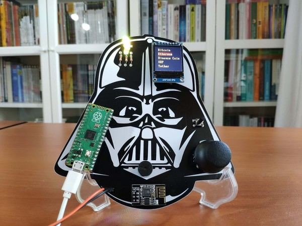 Raspberry pi pico projects: IoT cryptocurrency tracker with Darth Vader theme