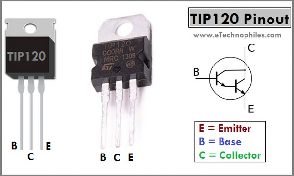 TIP120 Transistor Pinout and Arduino project
