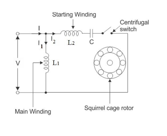 Splitting a single-phase by connecting an Auxiliary winding