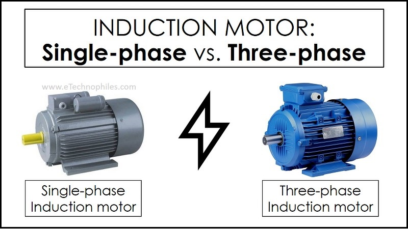 difference between a single-phase and a three-phase induction motor