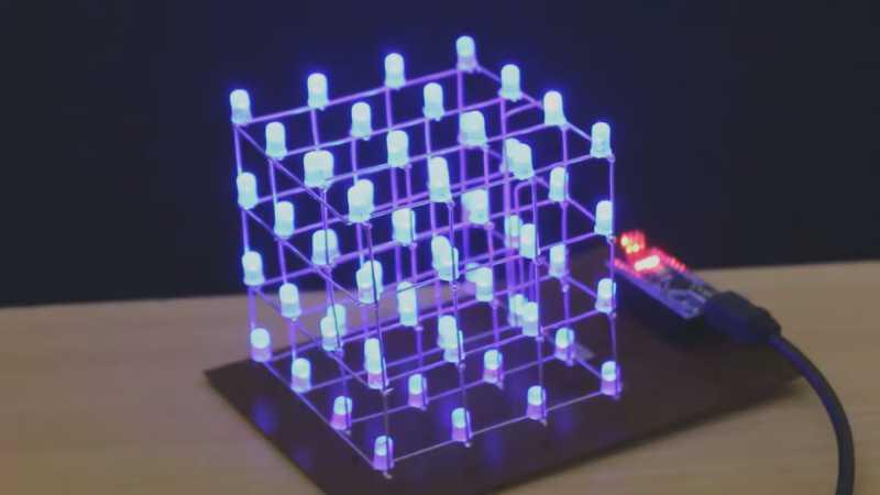 4X4 Led cube using Arduino